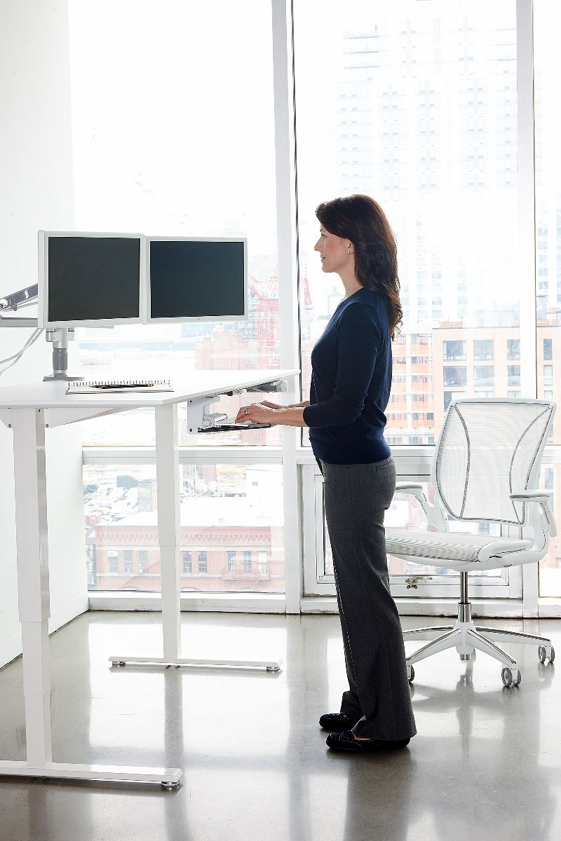 Height Adjustable Standing Desk Float Humanscale