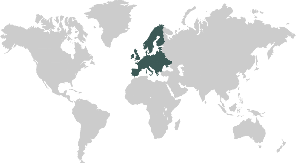 World Map Featuring Europe